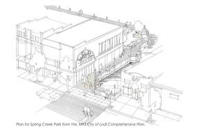 Early ideas for creating a river walk in Lodi, WI