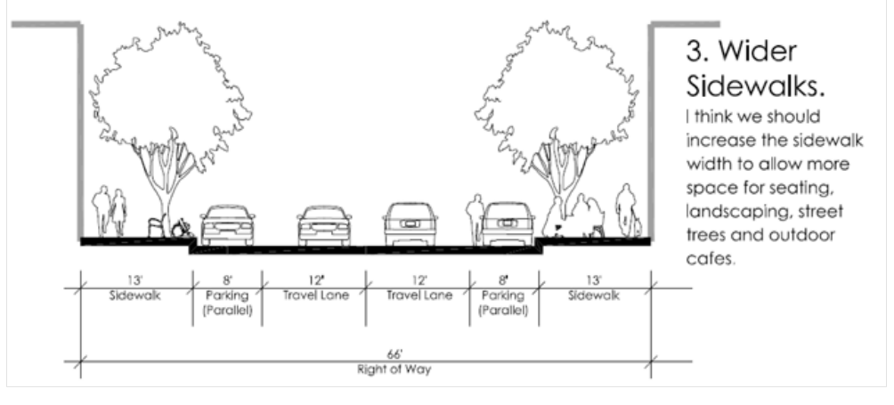 Option 3 for changes to Main Street in Lodi, WI