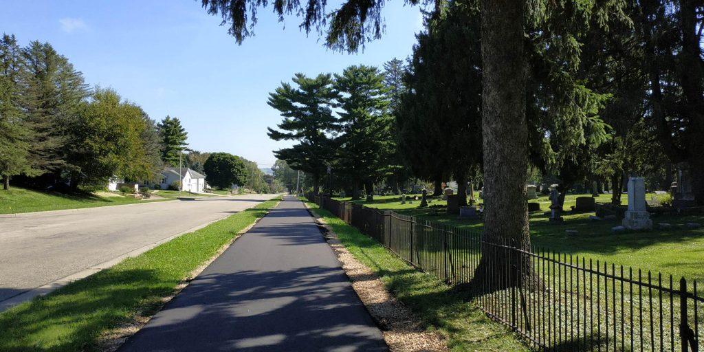 Multi-use path near Lodi schools.