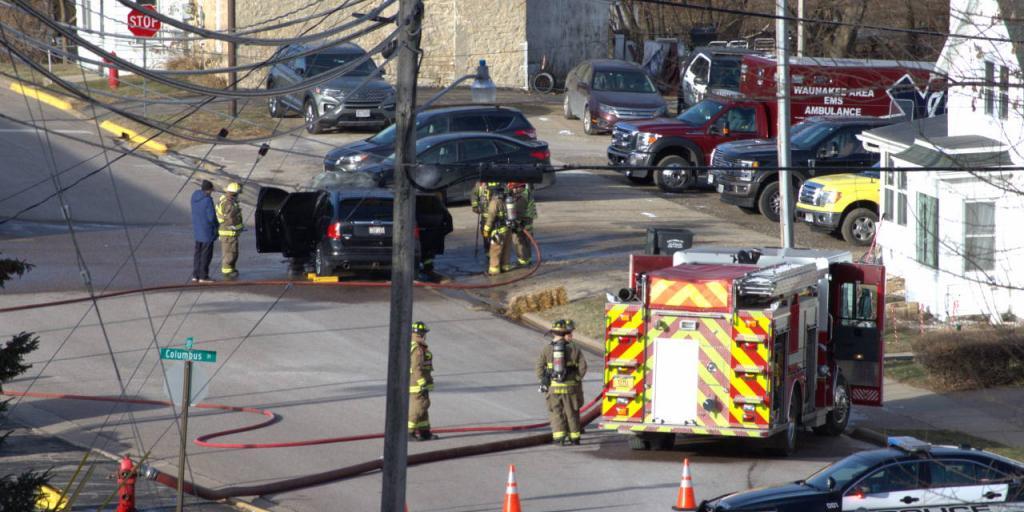 Car burns on Spring St.