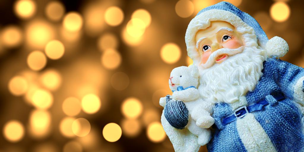 A blue Santa for Lodi