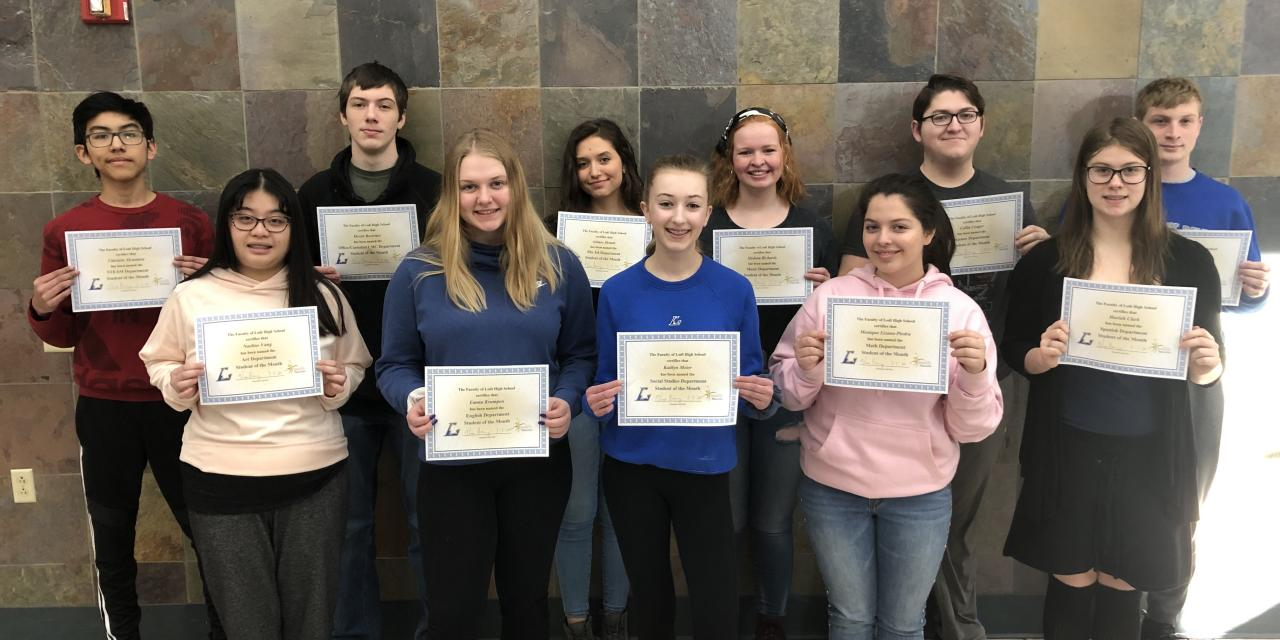 Lodi High School's Feb 2020 Students of the Month