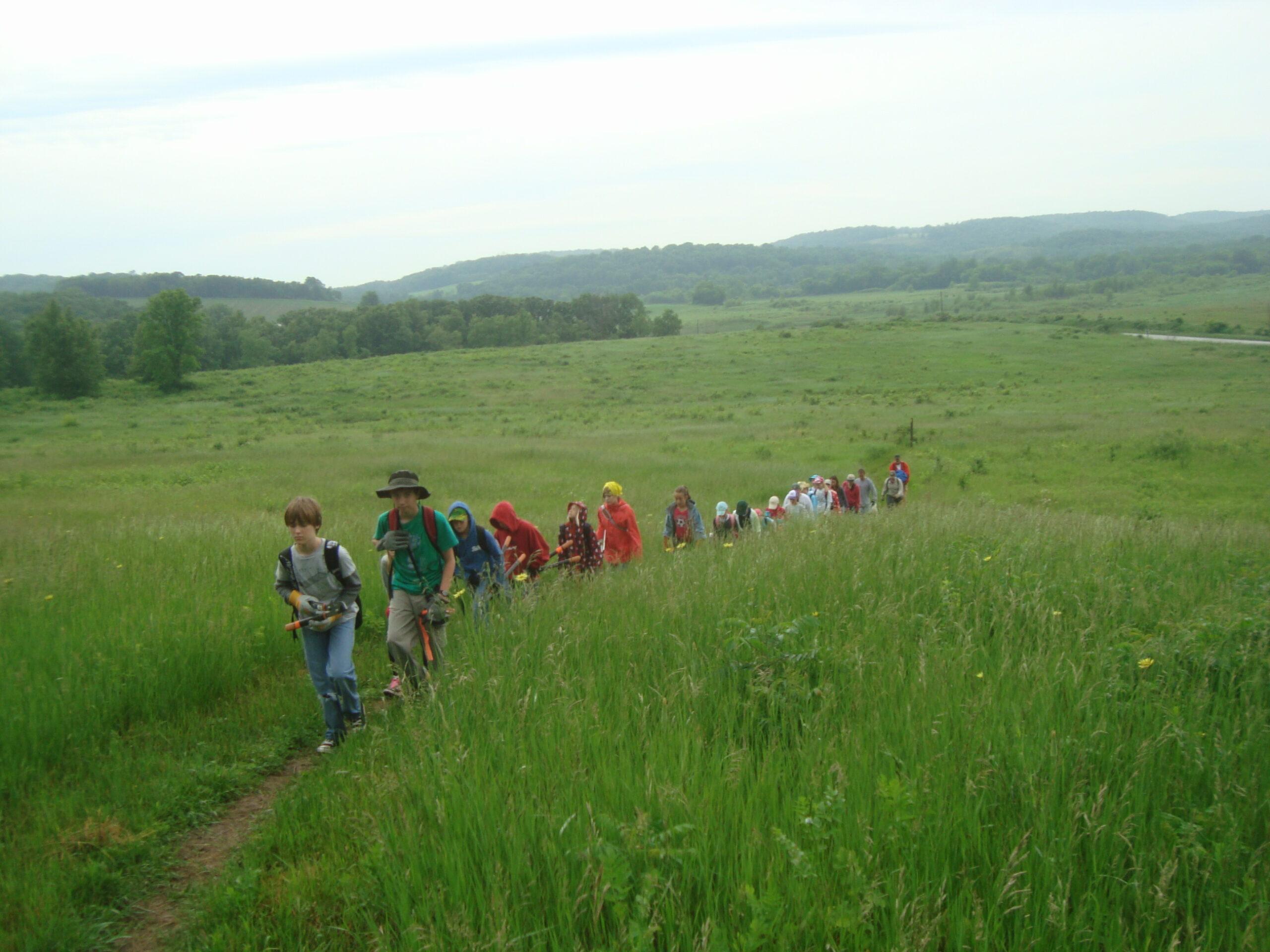 Saunters students on the Lodi Marsh Segment